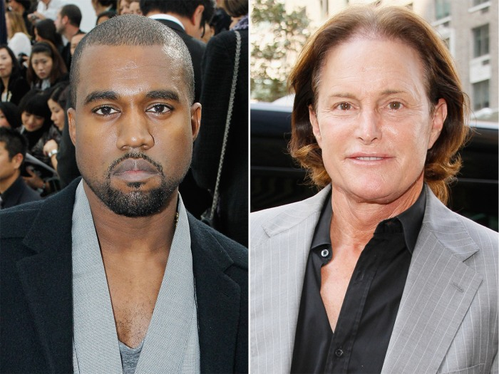 Kanye West and Bruce Jenner.