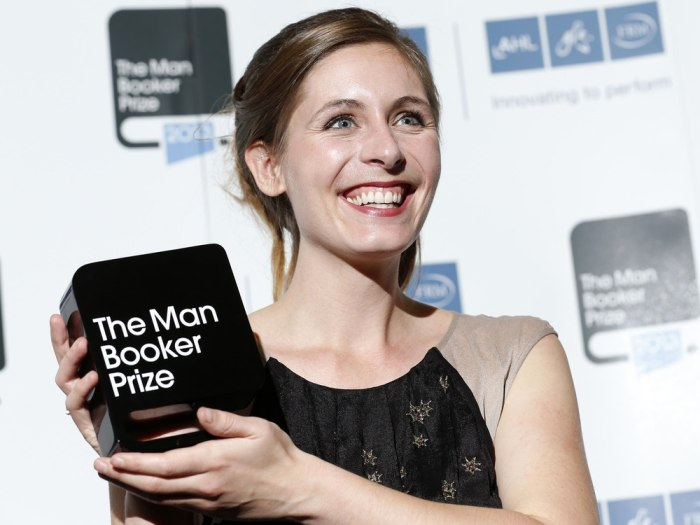 New Zealand writer Eleanor Catton, winner of the Man Booker Prize 2013, poses for photographs at the Guildhall in central London, October 15, 2013. Ca...