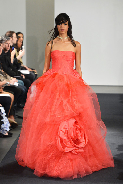 One of the dresses in Vera Wang's latest wedding collection.