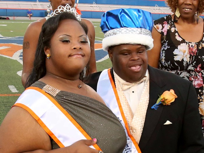 Bubba Hunter and Semone Adkins were crowned homecoming King and Queen at West Orange High School on Friday, October 11, 2013.  (Stephen M. Dowell/Orla...