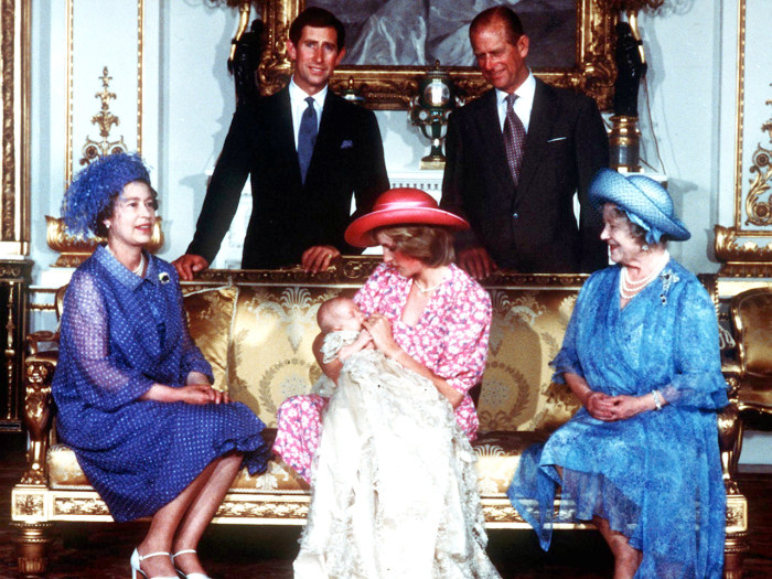 Royal Wedding Diamond Anniversary.File photo dated 04/08/1982 of The Royal family at Buckingham Palace, London, on the day of Prince William's christe...