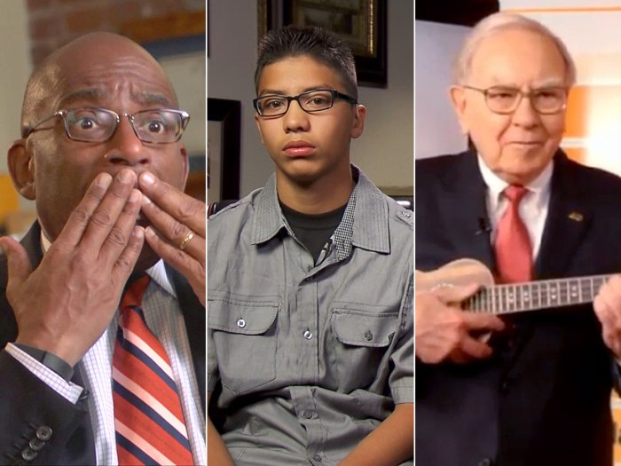 Al chats about his mother's lies, Nevada middle-schooler Jose Cazares recounts Monday's shooting and Warren Buffett plays the ukulele.