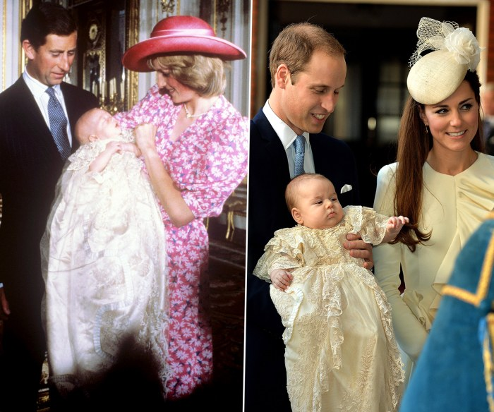 Prince William at his Christening with the Prince and Princess of Wales. (Press Association via AP Images) Britain's Prince William, Kate Duchess of C...