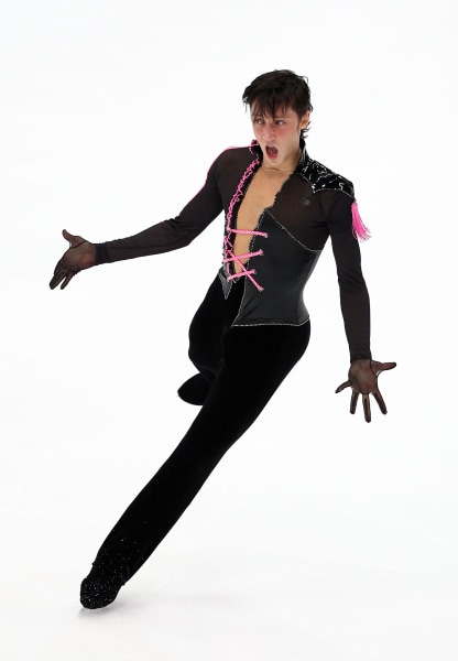 Johnny Weir on day one of the ISU Grand Prix of Figure Skating on November 6, 2009 in Nagano, Japan.