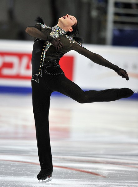 Weir performs on November 9, 2012 during the men's short program of the Russia's Cup at the Megasport arena in Moscow.