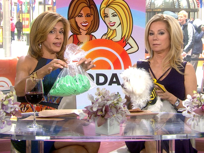 Hoda brought her shirt in a plastic bag to have KLG check if it smelled.