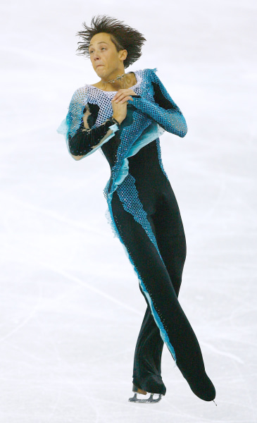 Weir competes in the Men's Free Skate Program Final during Day 6 of the Turin Winter Olympic Games on February 16, 2006.