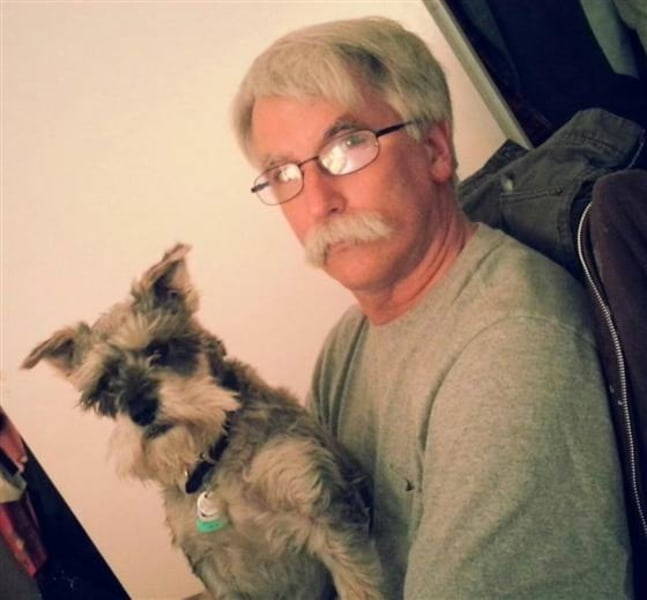 Jim Phelan and dog