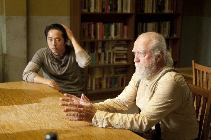 "Image: Glenn, Hershel on ""Walking Dead"""