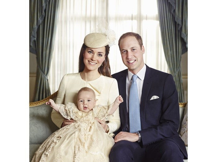 Prince George with his parents.
