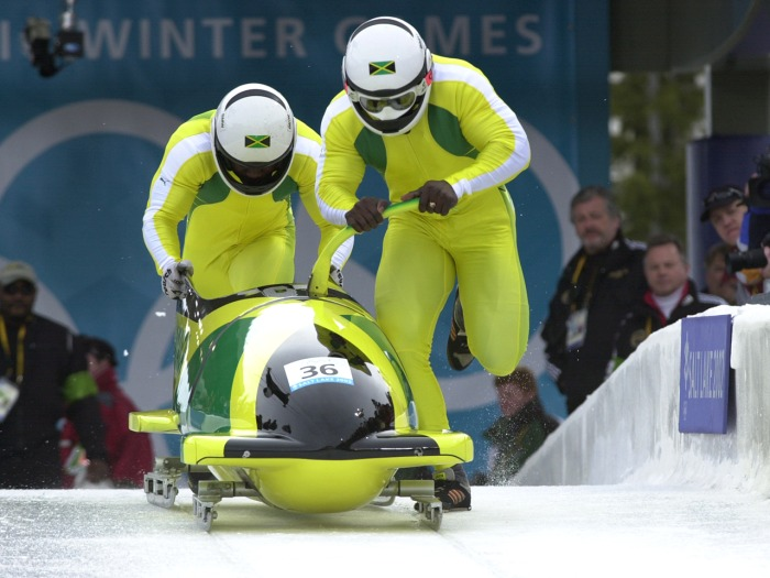Winston Watts, 46, (above left) is helping lead the effort for the Jamaican bobsled team to qualify for the 2014 Winter Olympic games after the team failed to make the last two Winter Olympic Games.
