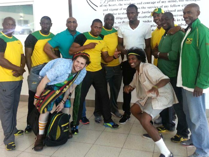 Funding is scarce for the Jamaican bobsled team, as the sport is not as popular on the island nation as sports like track and field where Olympic gold medalist Usain Bolt is a national icon. Members of various Jamaican bobsled teams over the years are pictured meeting with Bolt.