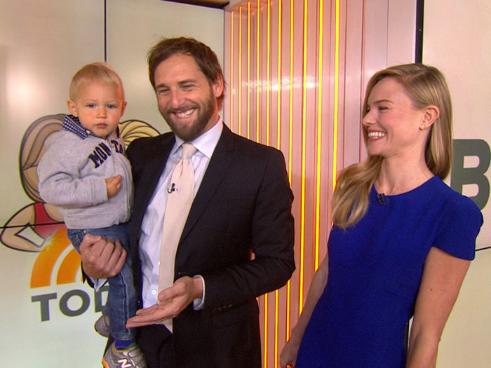 Josh Lucas stopped by TODAY - with his baby in tow.