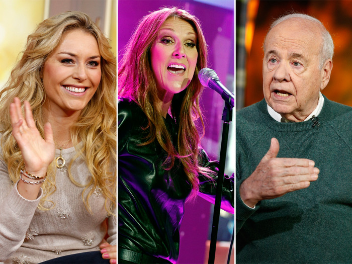 Lindsey Vonn's going for the gold (again), Celine Dion's back after six years and Tim Conway is out with a memoir.