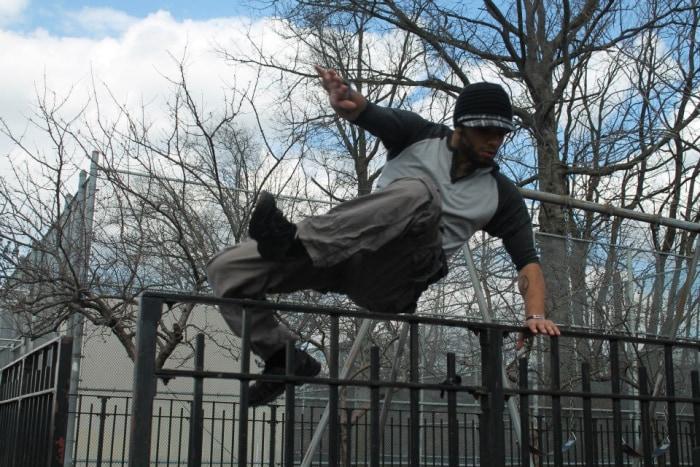 Jeremy 'Spyder' Gallant practicing Parkour.