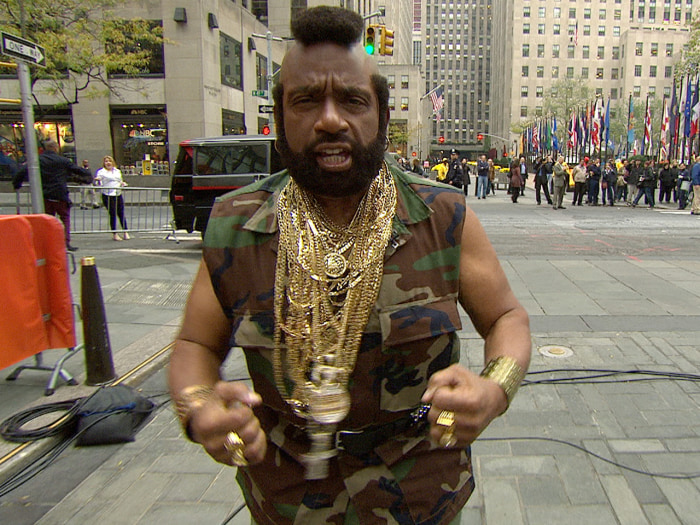 "Finally, Al got to pay homage to his favorite TV character, Mr. T's B.A. Baracus from ""The A-Team."""