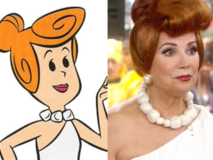 Kathie Lee does her best Wilma Flintstone.