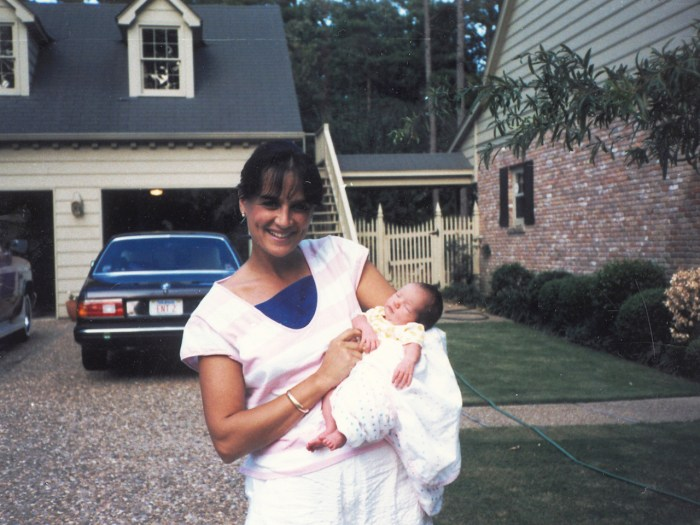 Dr. Nancy Snyderman and infant daughter Kate in 1986.