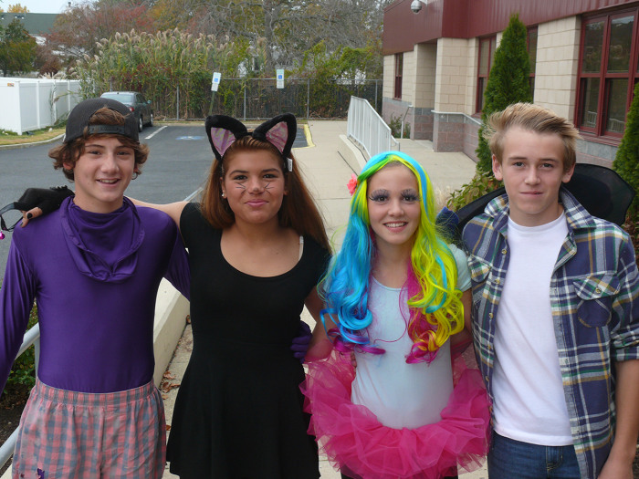 Image: Seventh- and eighth-graders at Halloween parade