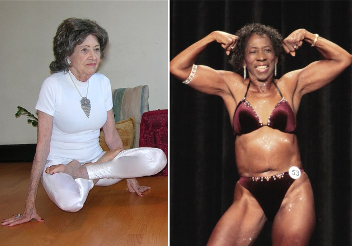Tao Porchon-Lynch, left, and Edith Wilma Connor, right, show that athletes come in all ages.