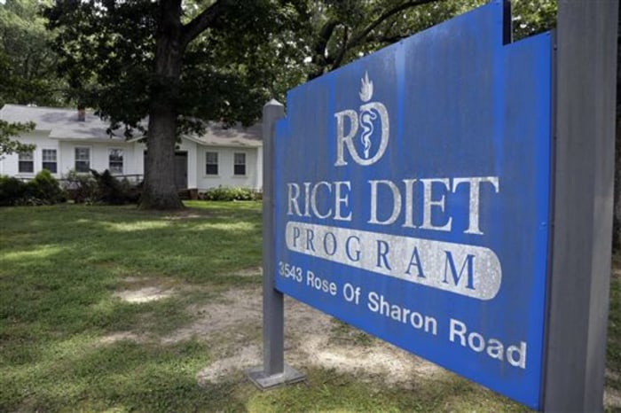 This Tuesday, Aug. 27, 2013 photo shows the now-closed Rice Diet facility in Durham, N.C. The company that took the Rice Diet banner after Duke Univer...