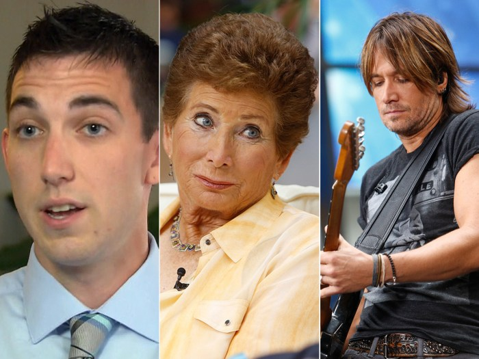 Matthew Cordle opens up, tennis ref Lois Goodman sues and Keith Urban rocks out.