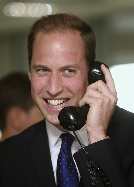 Britain's Prince William takes part in a trade on the trading floor of BGC Partners in London September 11, 2013. The company, formerly part of Cantor...