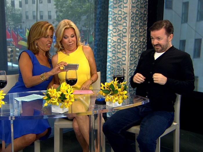 Image: Kathie Lee, Hoda, Ricky Gervais