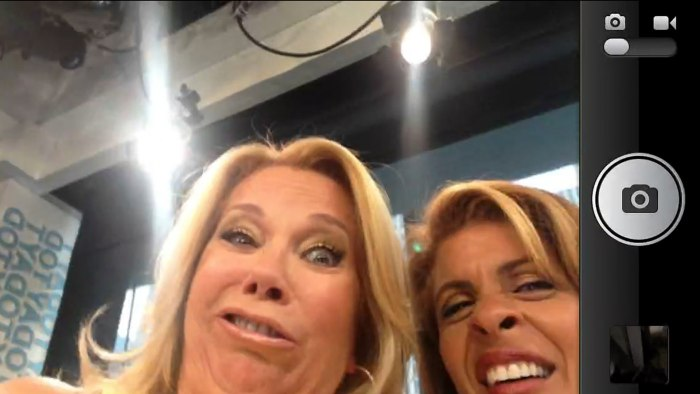 "Image: Kathie Lee and Hoda's ""selfies"""