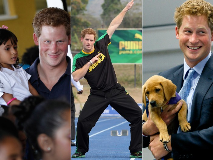Prince Charming indeed: Prince Harry at his compassionate, cute and candid best