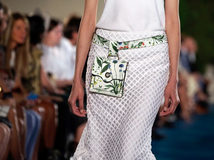 The Tory Burch Spring 2014 collection is modeled during Fashion Week in New York,  Tuesday, Sept. 10, 2013. (AP Photo/Richard Drew)