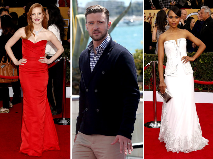 Jessica Chastain, Justin Timberlake and Kerry Washington top People magazine's best-dressed list.