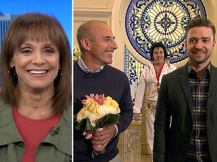 Valerie Harper stays positive about her cancer, Matt has a guys' night in Vegas with Justin Timberlake.