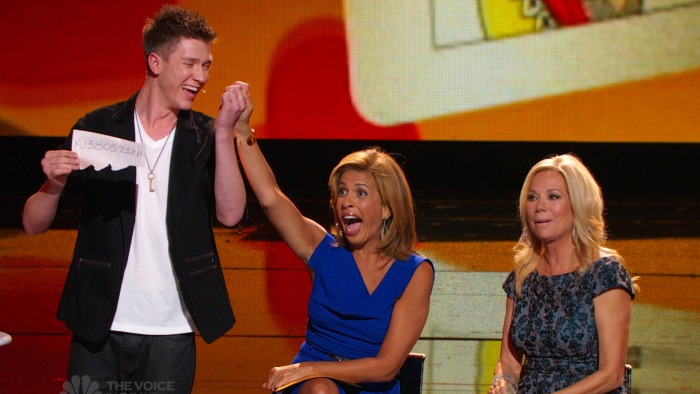 A young contestant worked his magic on Kathie Lee and Hoda.