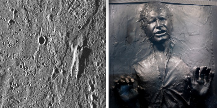 Throw Out Bearing >> NASA: Frozen Han Solo is on Mercury (kind of) - TODAY.com