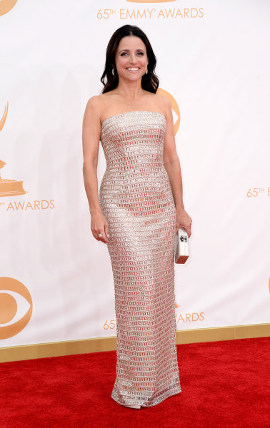 LOS ANGELES, CA - SEPTEMBER 22:  Actress Julia Louis-Dreyfus arrives at the 65th Annual Primetime Emmy Awards held at Nokia Theatre L.A. Live on Septe...