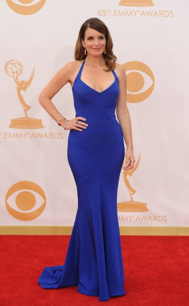 Tina Fey arrives on the red carpet for the 65th Emmy Awards in Los Angeles, California, on September 22, 2013.  AFP PHOTO / Robyn BeckROBYN BECK/AFP/G...