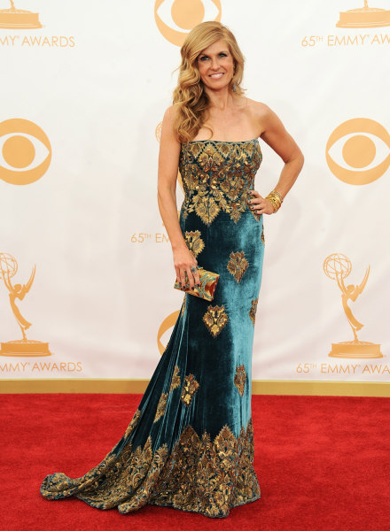 Connie Britton arrives at the 65th Primetime Emmy Awards at Nokia Theatre on Sunday Sept. 22, 2013, in Los Angeles.  (Photo by Jordan Strauss/Invision...