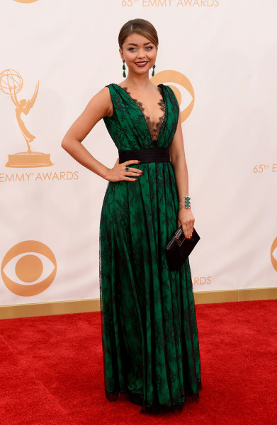 LOS ANGELES, CA - SEPTEMBER 22:  Actress Sarah Hyland arrives at the 65th Annual Primetime Emmy Awards held at Nokia Theatre L.A. Live on September 22...