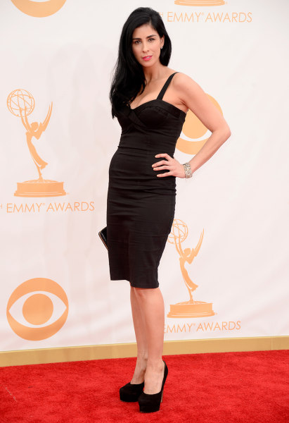 LOS ANGELES, CA - SEPTEMBER 22:  Actress Sarah Silverman arrives at the 65th Annual Primetime Emmy Awards held at Nokia Theatre L.A. Live on September...
