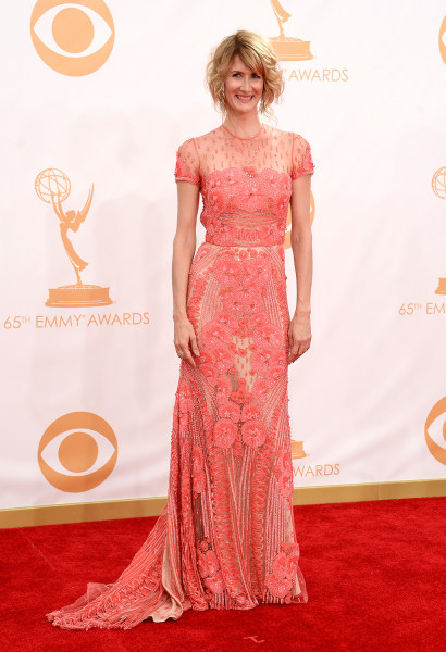 LOS ANGELES, CA - SEPTEMBER 22:  Actress Laura Dern arrives at the 65th Annual Primetime Emmy Awards held at Nokia Theatre L.A. Live on September 22, ...