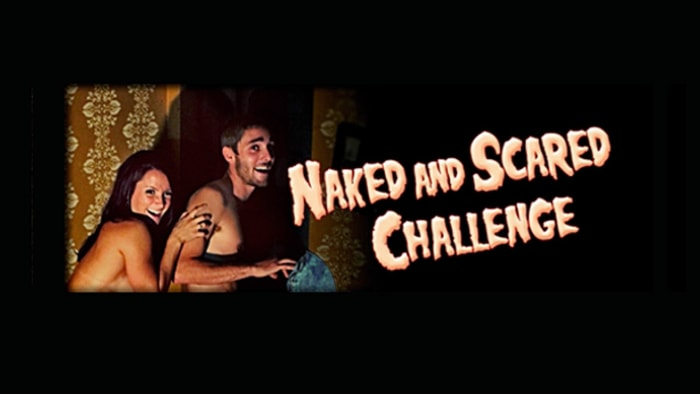 "A new attraction at Pennsylvania's ""Shocktoberfest"" invites thrill-seekers to enter a haunted house while naked."