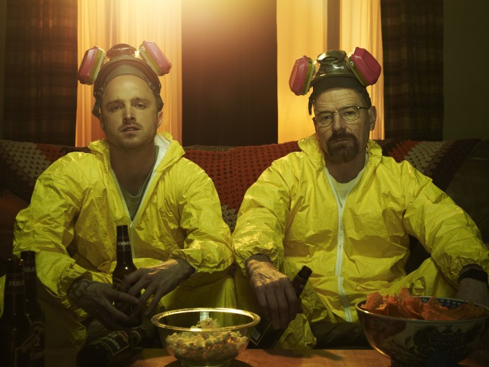 """Aaron Paul and Bryan Cranston as Jesse and Walt in """"Breaking Bad."""""""