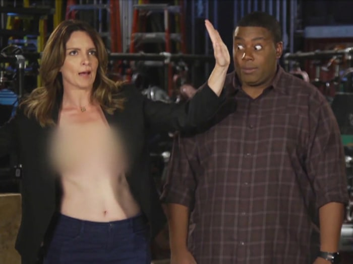 Tina Fey in the new promos for SNL this weekend.