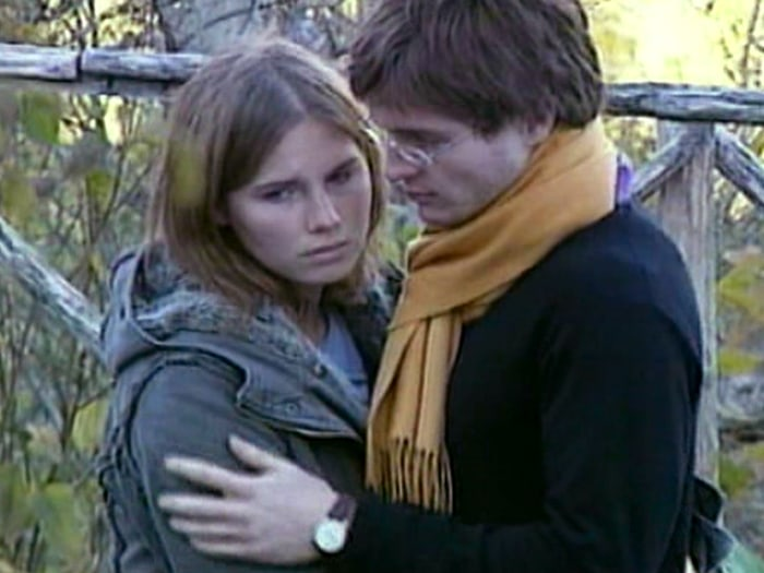 Sollecito, with his former girlfriend, Amanda Knox.