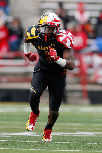The University of Maryland's football team tried to blind its opponents by introducing these uniforms in 2011.
