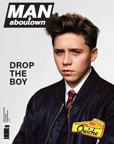 Brooklyn Beckham, the 15-year-old son of Victoria Beckham and David Beckham poses for Man About Town magazine.
