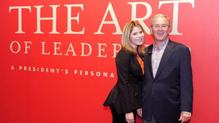 George W. Bush also spoke with daughter Jenna Bush Hager about the paintings of his that were leaked online by a hacker and talks about painting of portrait of his wife, former first lady Laura Bush.