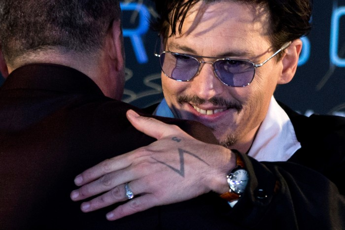 IMAGE: Depp wearing ring