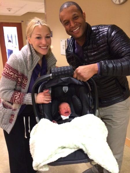 Melvin and Czarniak with their son.